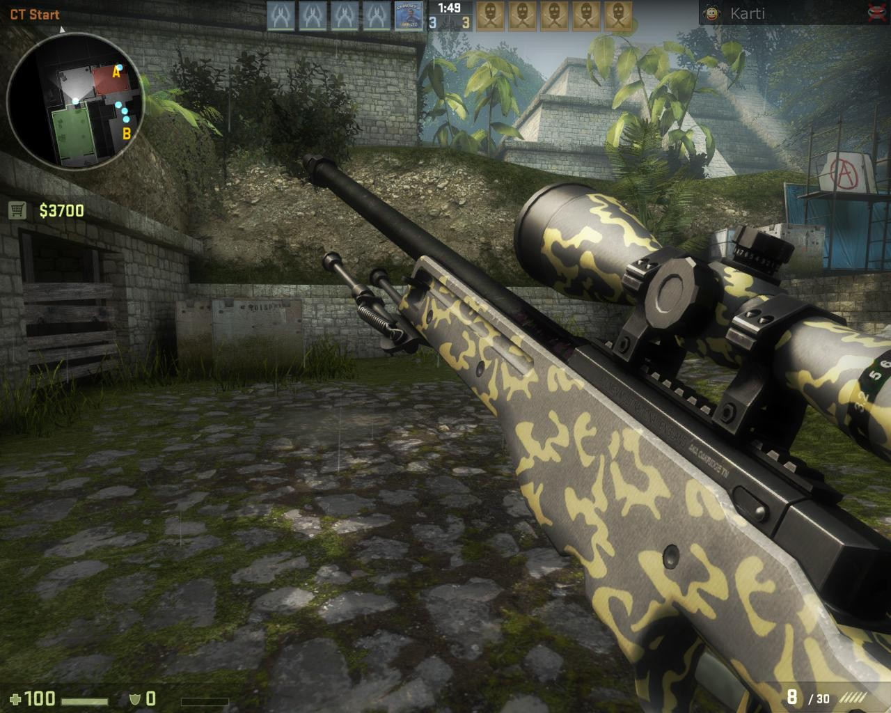 Скриншот AWP Yelow Hazard для CS GO