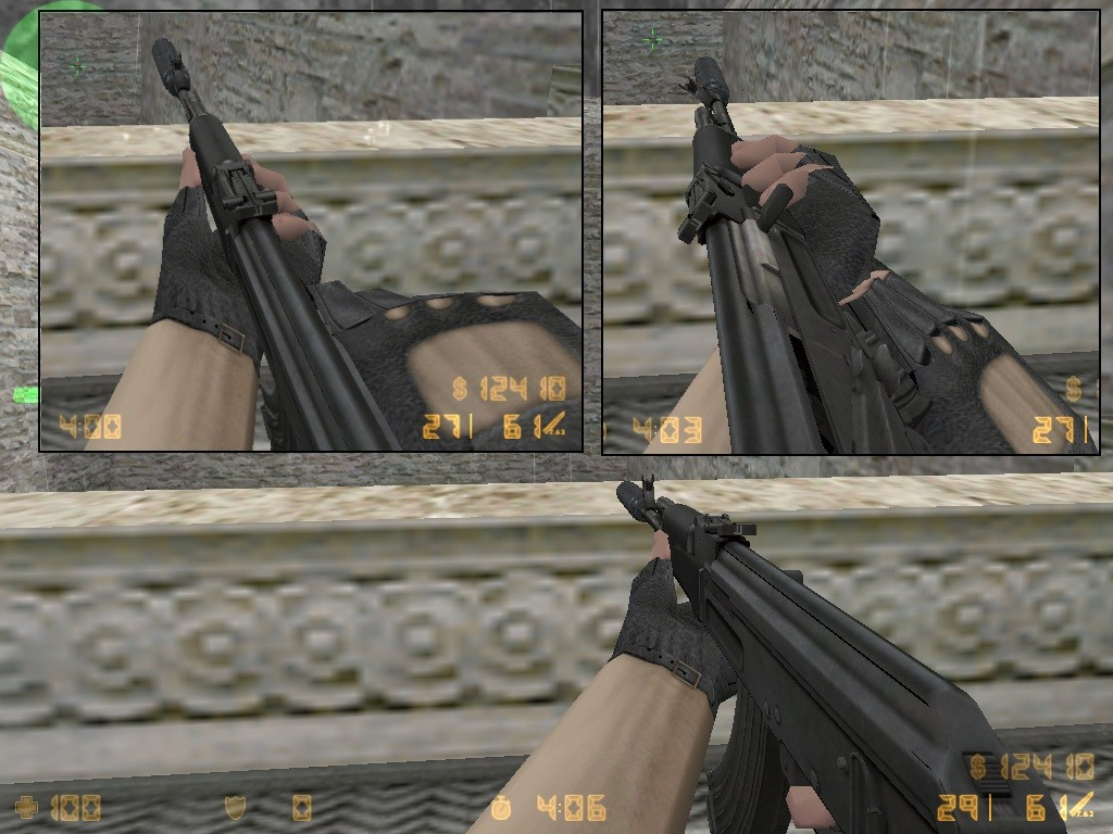 Скриншот Silenced Ak47 on ManTuna animations for CS