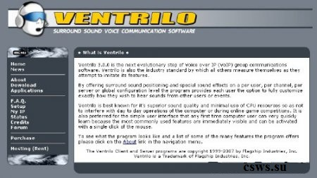 Скачать Ventrilo Server 3.0 for Windows